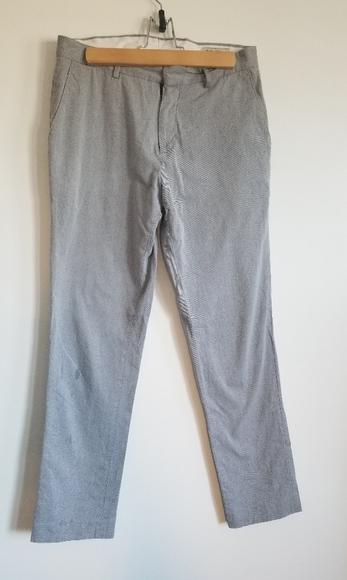 Frank & Oak grey twill Laurier fit pants